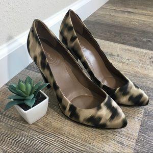Calvin Klein Tan, Brown, Black Print Heels
